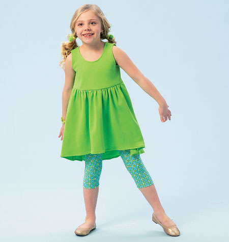 McCall's Children's/Girls' Top, Dresses, Shorts and Leggings 6947