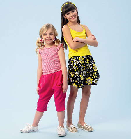 McCall's Children's/Girls' Shorts and Pants 6950