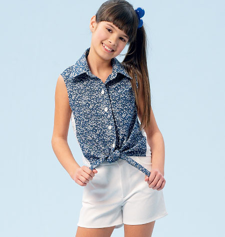 McCall's Girls'/Girls' Plus Tops, Skirt, Shorts and Pants 6951