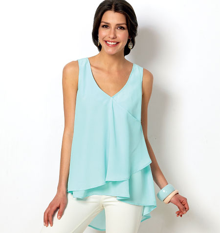 McCall's Misses' Tops and Tunics 6960