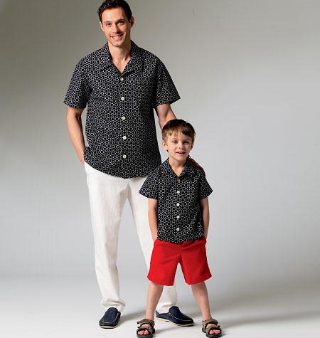 McCall's Men's/Boys' Shirt, Shorts and Pants 6972