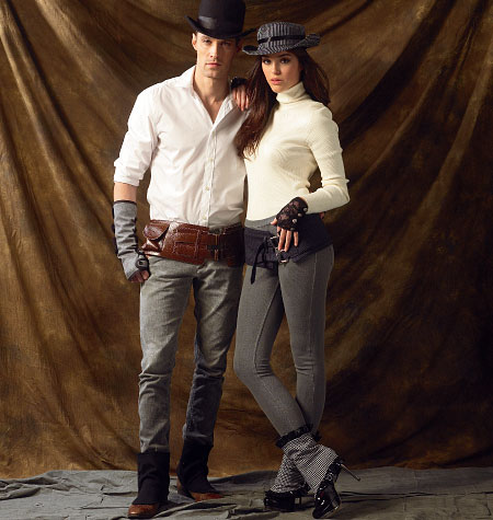McCall's Spats/Gaitors, Fingerless Gloves, Hats and Belts 6975