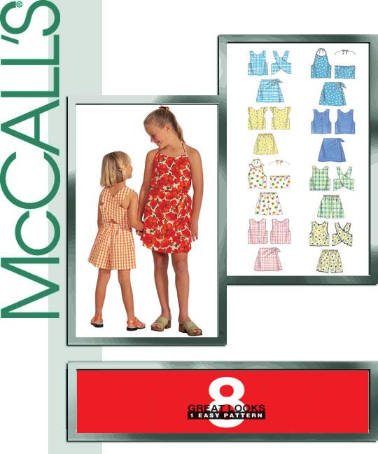 McCall's Girls tops, shorts, skort sets 9369