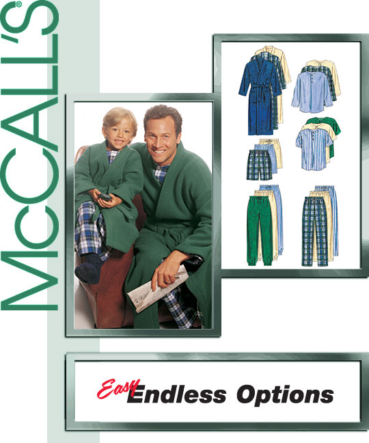 McCall's Robe, top, pants and shorts 9638