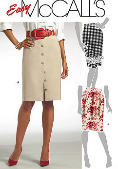 McCall's Button Front Pencil Skirt 5330
