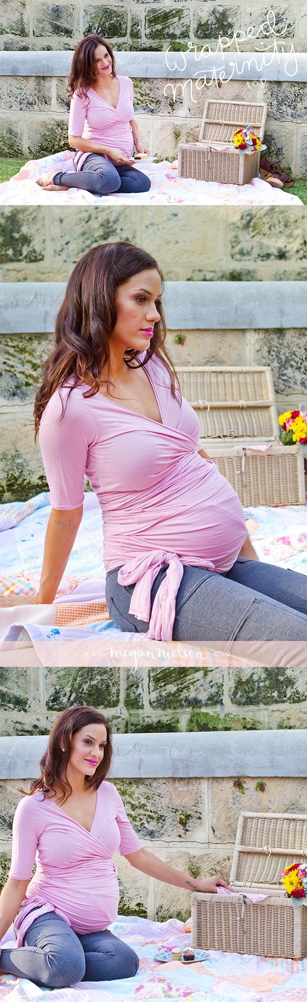 Megan Nielsen Wrapped Maternity Top MN1003