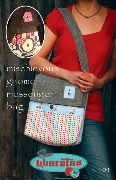 Sew Liberated Mischievous Gnome Messenger Bag N104