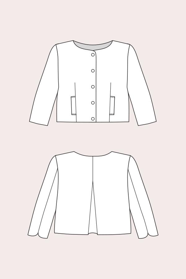 Line Drawing Jacket : Named clothing lourdes cropped jacket downloadable