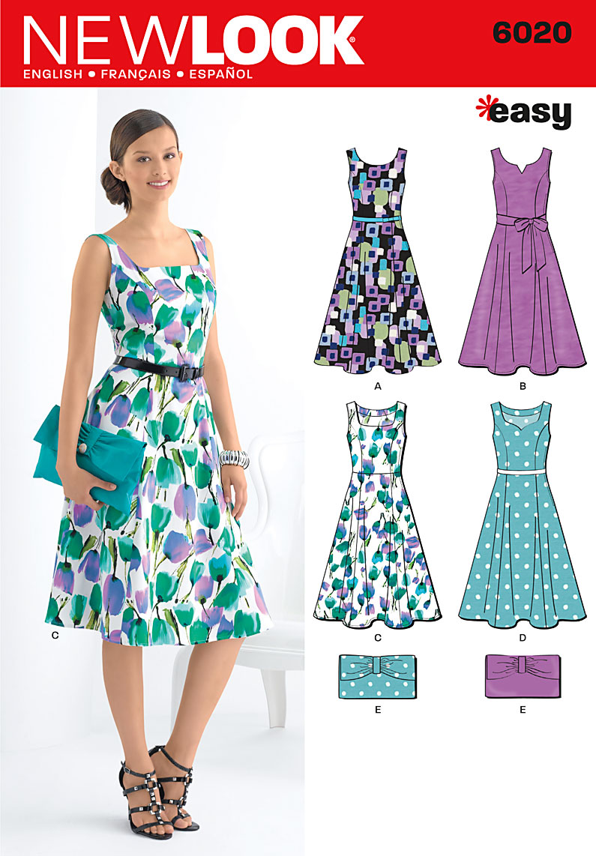 New Look Misses' Dresses & Purse 6020