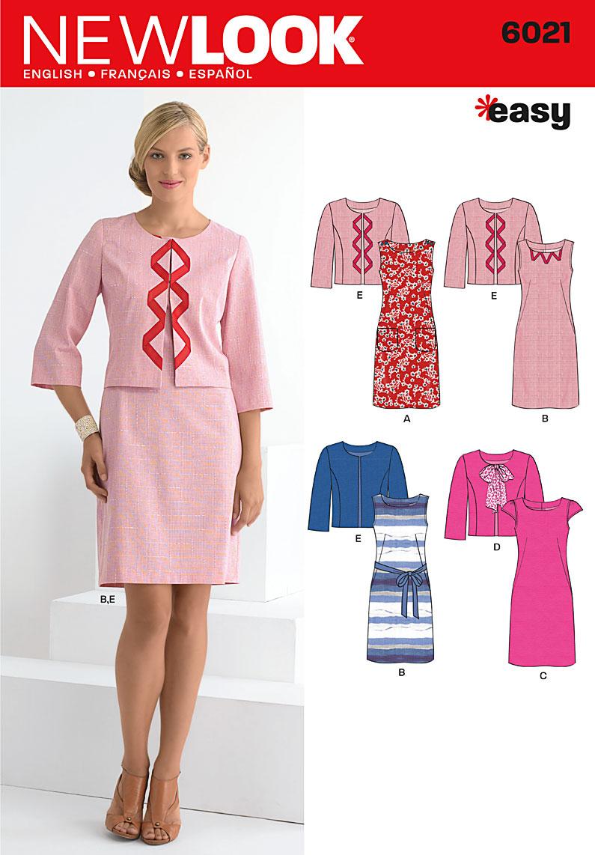 New Look Misses' Dresses & Jacket 6021