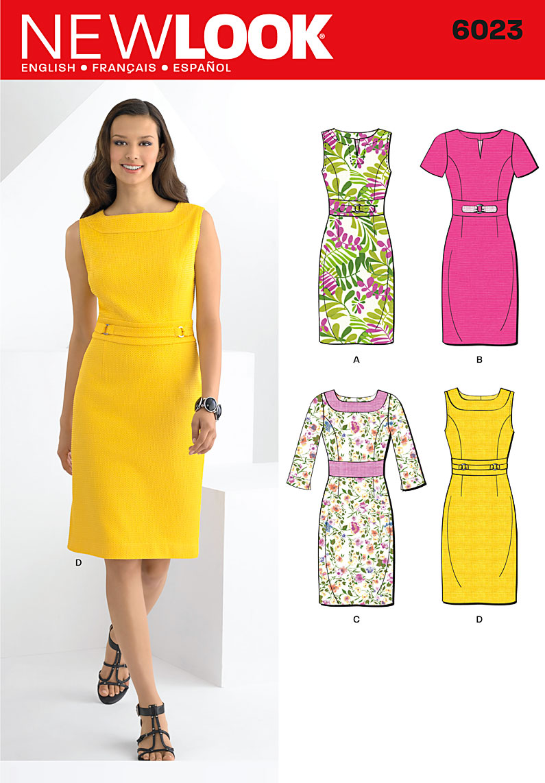 New Look Misses' Dresses 6023