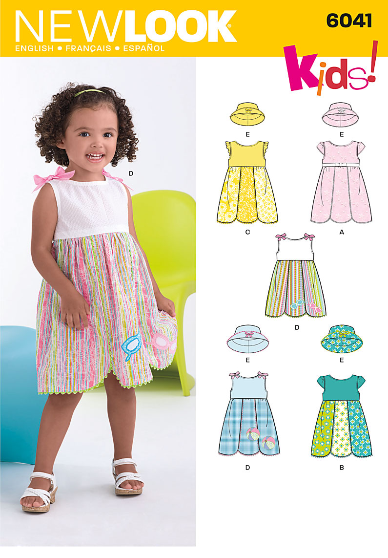 New Look  Toddler's Dress & Hat 6041