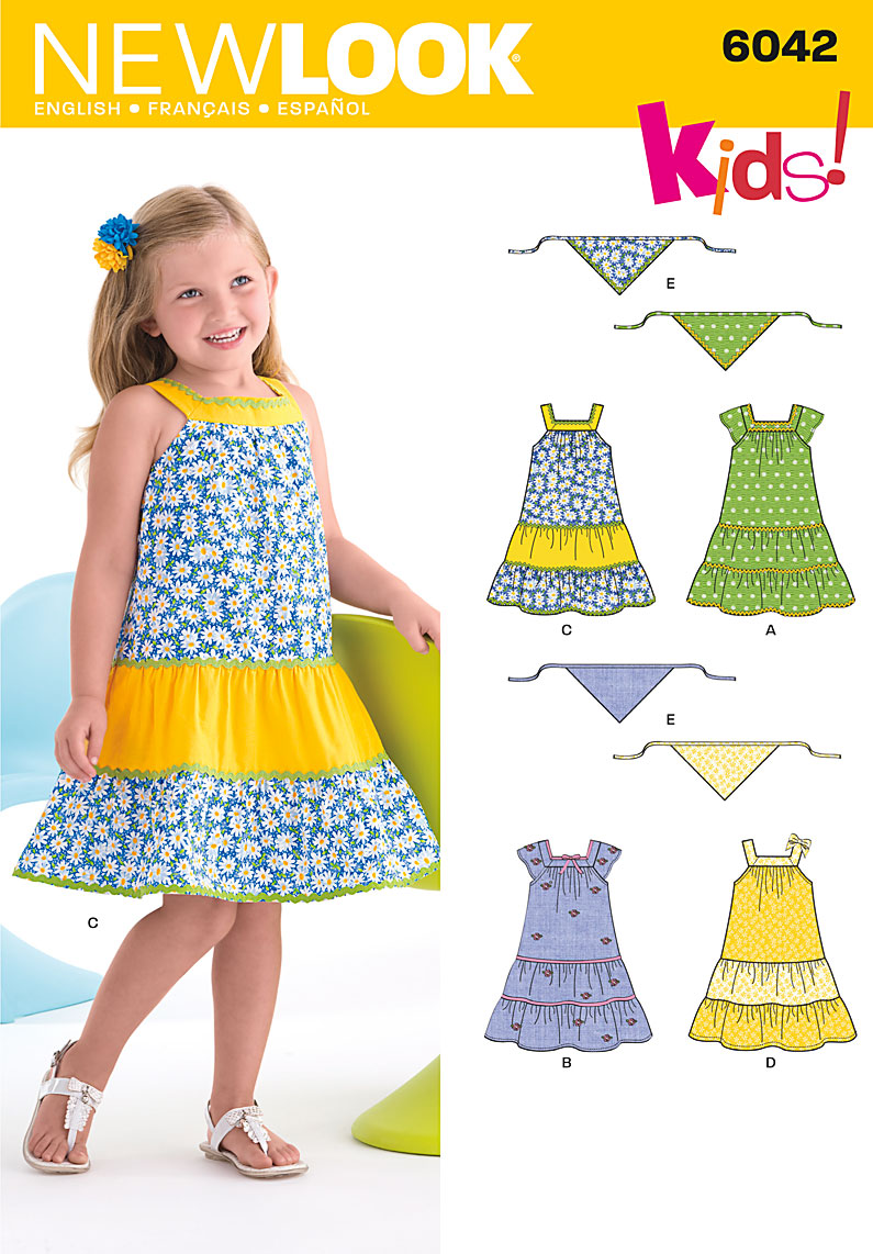 New Look Child's Dress & Scarf 6042
