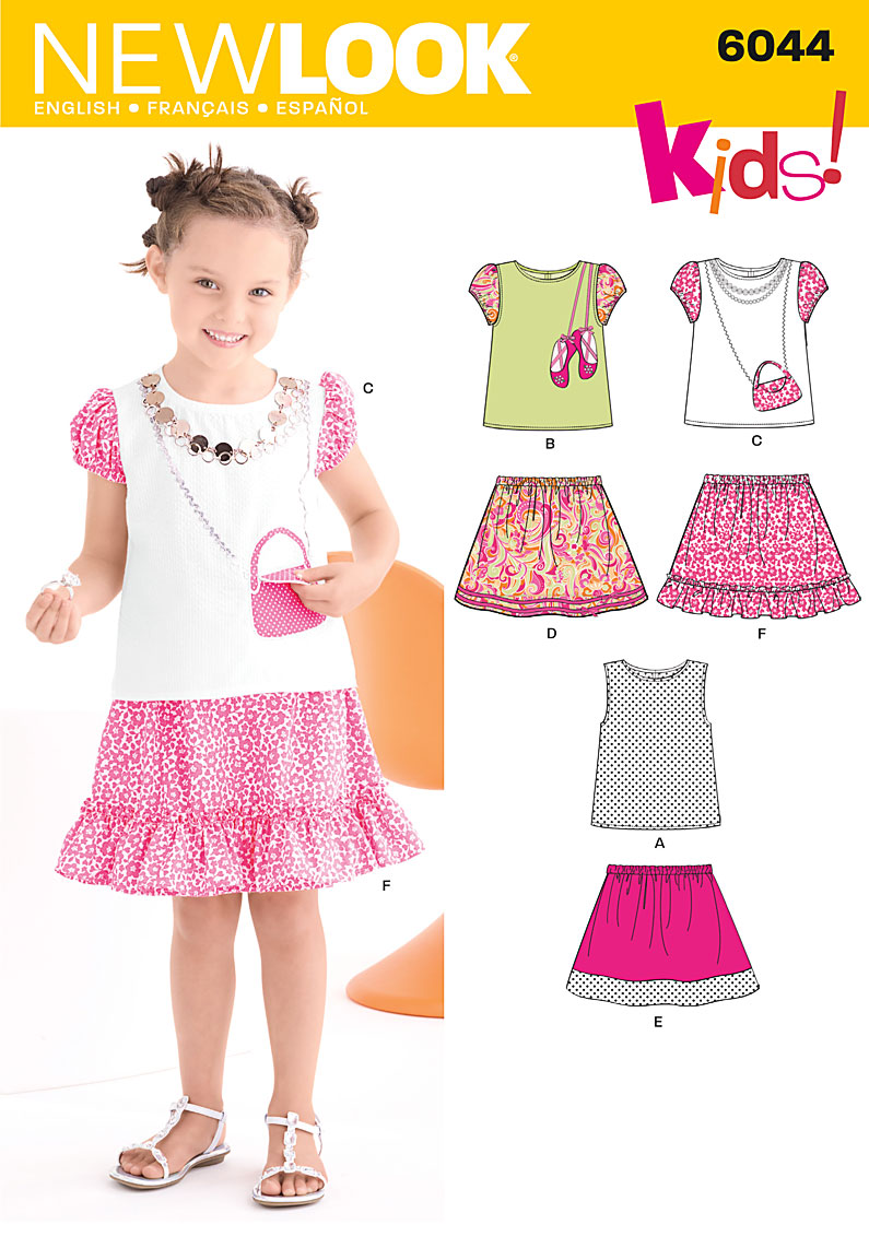 New Look Child's Skirt & Top 6044