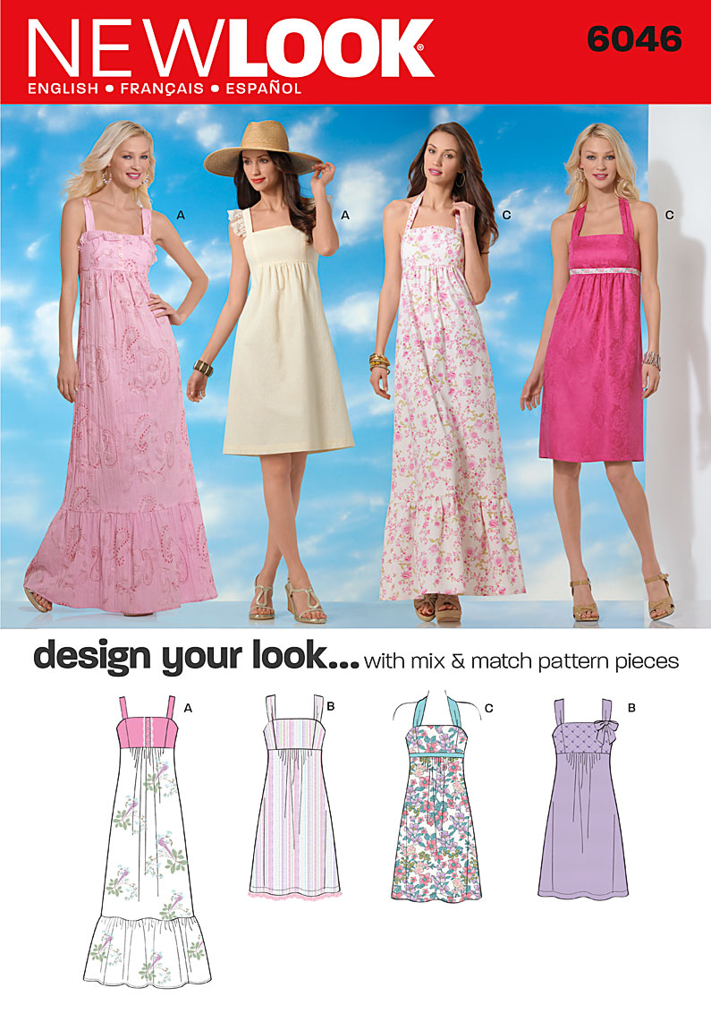 New Look Misses' Dresses 6046
