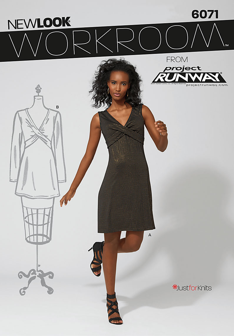 New Look Workroom from Project Runway, misses' knit dress or top.