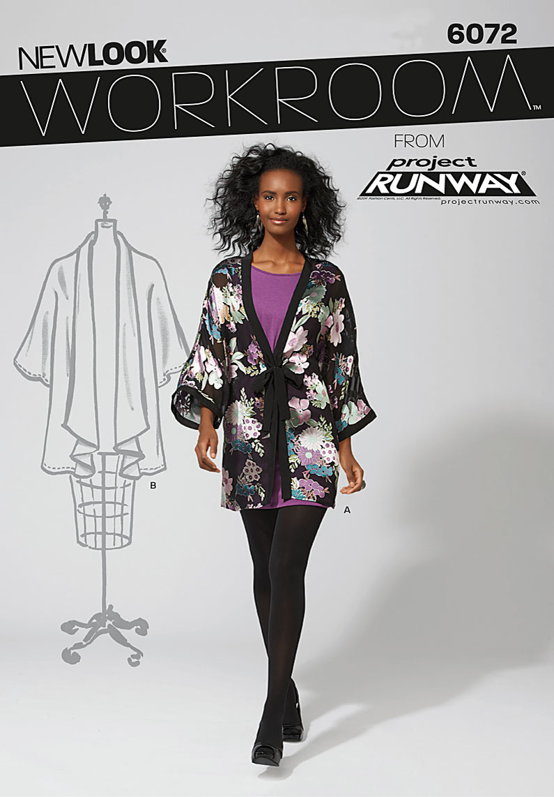 New Look Workroom from Project Runway, misses' kimono jacket. 6072
