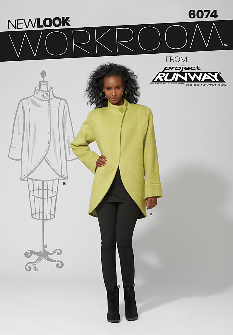 New Look Workroom from Project Runway, misses' lined coat in two lengths 6074