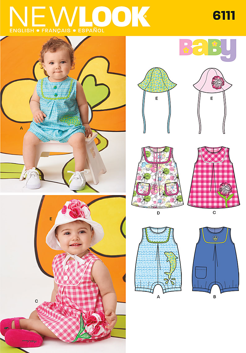 New Look Baby Dress, Romper and Hat 6111