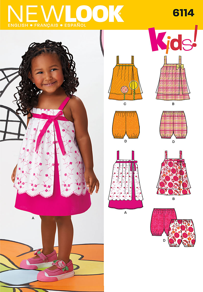 New Look Toddler Dress, Top and Shorts 6114