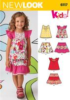 New Look 6117 Pattern ( Size 3-4-5-6-7-8 )