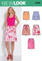 New Look 6128 Pattern ( Size 4-6-8-10-12-14-16 )