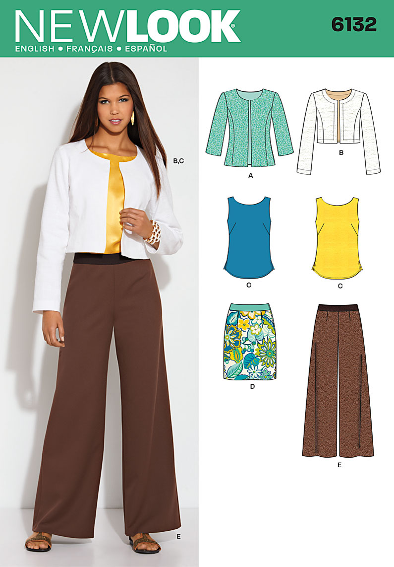 New Look Misses Jacket, top, skirt and pants 6132