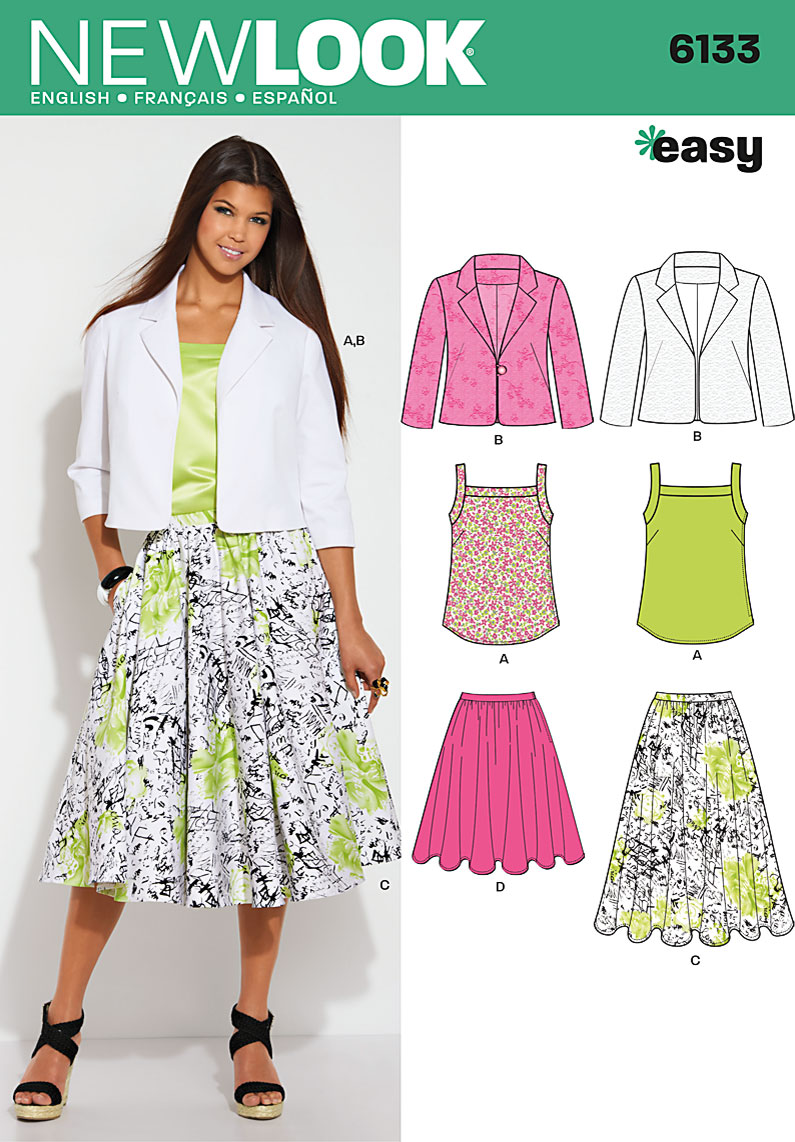 New Look Misses Top, Jacket and Skirts 6133