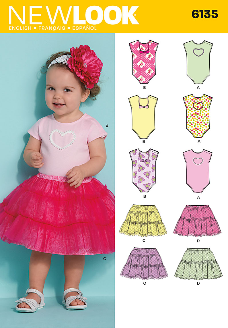 New Look Babies skirt and bodysuit 6135