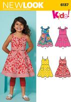 New Look 6137 Pattern ( Size 3-4-5-6-7-8 )