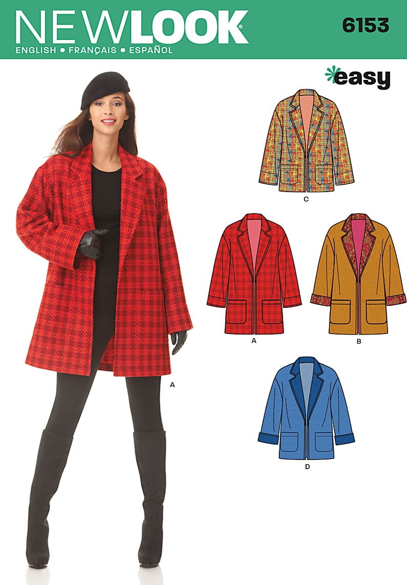 New Look 6153 Misses' Coat