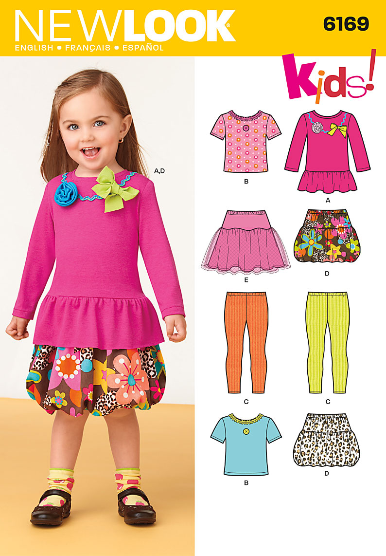 New Look Toddler's shirt, leggings, skirt 6169