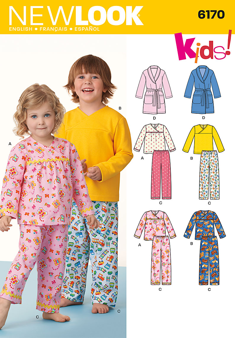 New Look Toddlers Pajamas and Robe with belt 6170