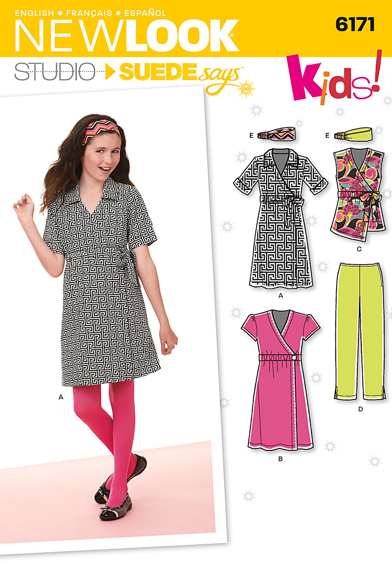 New Look Girl's dress or top, pants and headband 6171