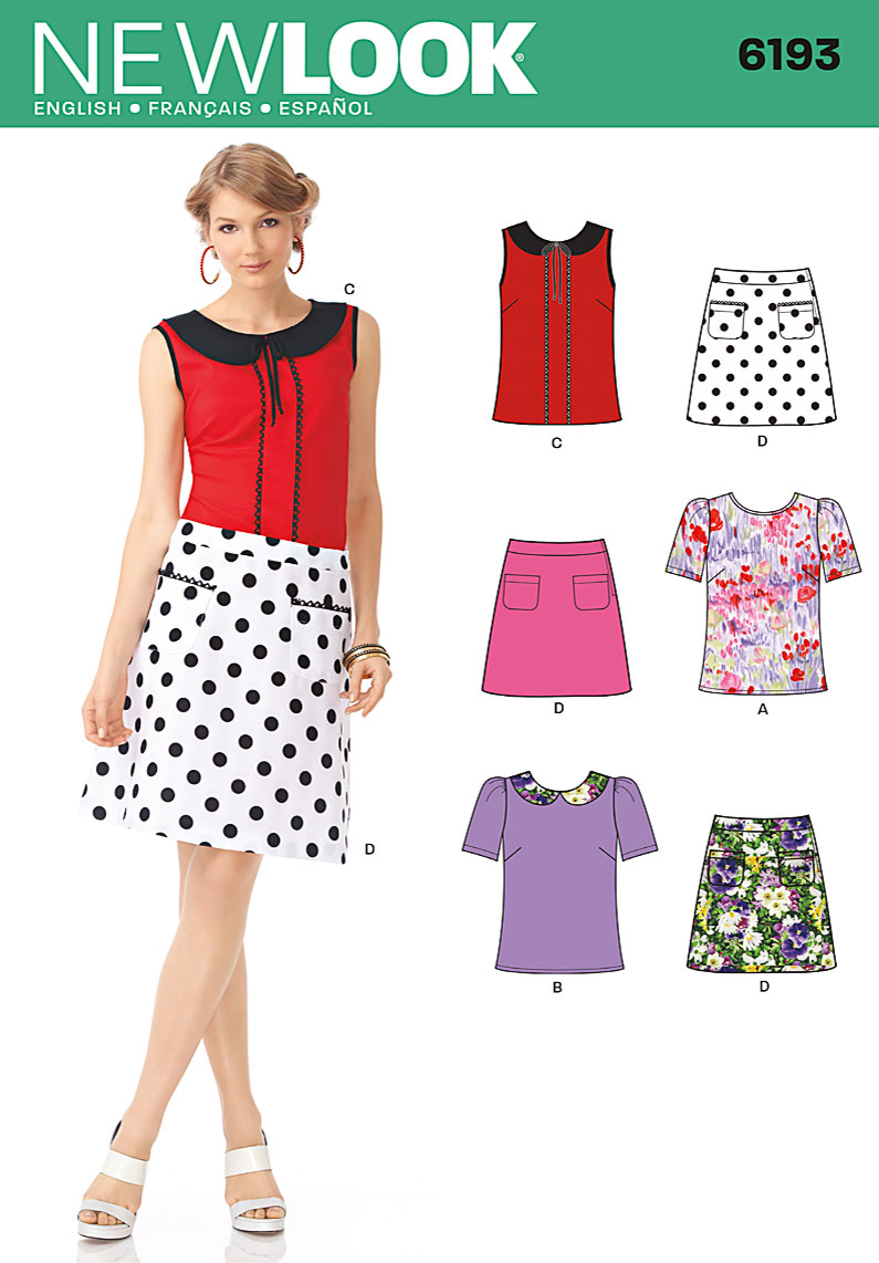 New Look Misses Tops and Skirts 6193