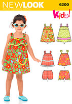 New Look 6200 Pattern ( Size 1/2-1-2-3-4 )