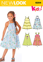 New Look 6204 Pattern ( Size 3-4-5-6-7-8 )