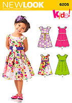 New Look 6205 Pattern ( Size 3-4-5-6-7-8 )