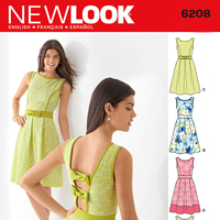 New Look 6208 Pattern ( Size 8-10-12-14-16-18 )
