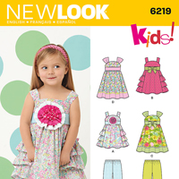 New Look 6219 Pattern ( Size 1/2-1-2-3-4 )