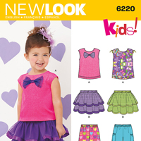 New Look 6220 Pattern ( Size 1/2-1-2-3-4 )