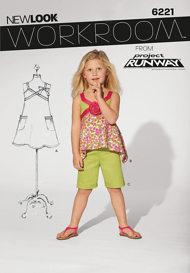 New Look Child's dress, top and shorts 6221