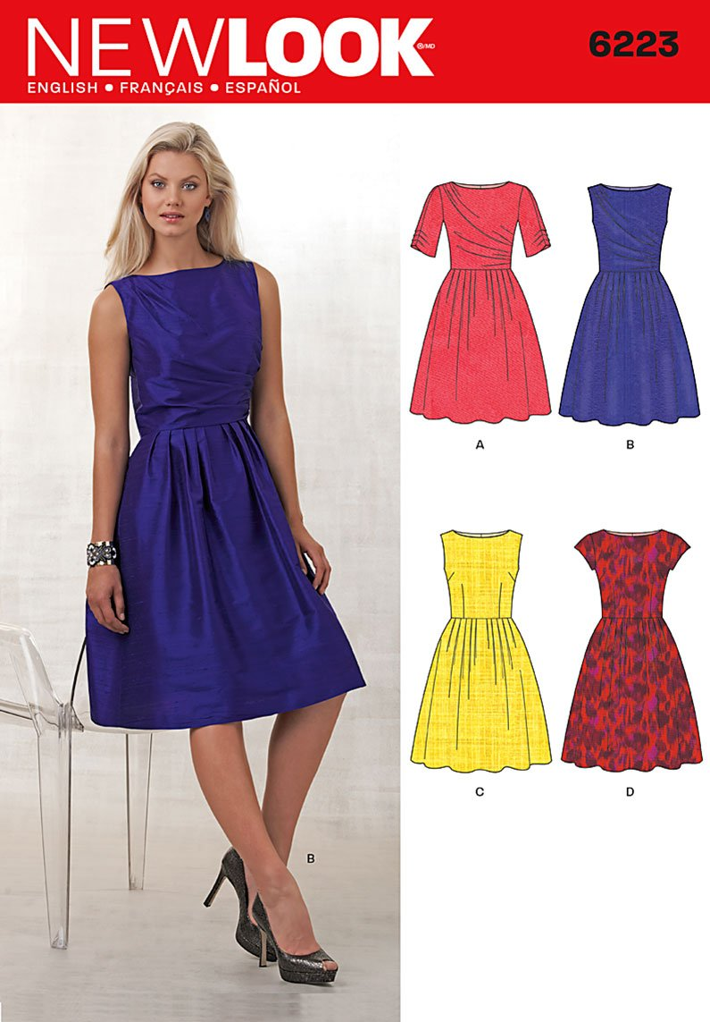 New Look Misses' Dress with Bodice Variations 6223