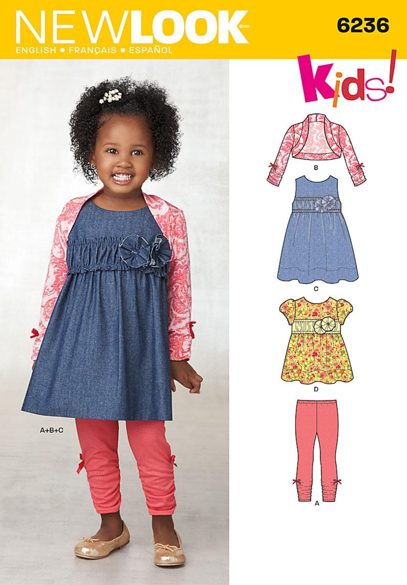 New Look Toddlers' Dress, Top, Leggings and Bolero 6236