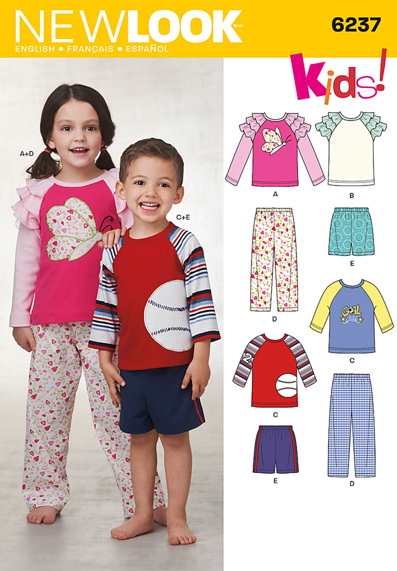 New Look Toddlers' & Child's Pants or Shorts and Top 6237