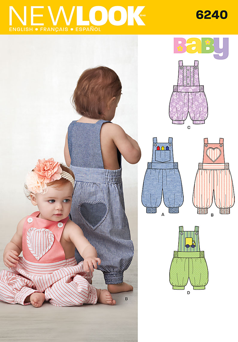 New Look Babies' Overalls In Two Lengths 6240