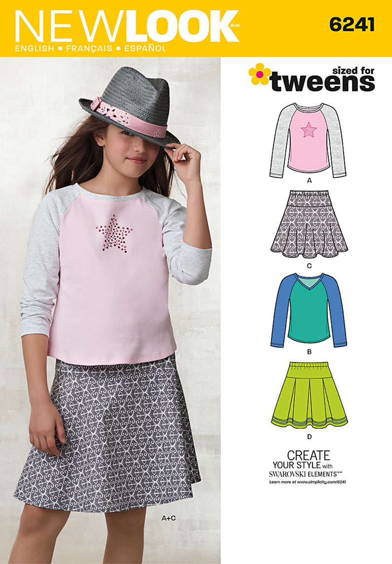 New Look Girls' Skirts and Knit Tops 6241