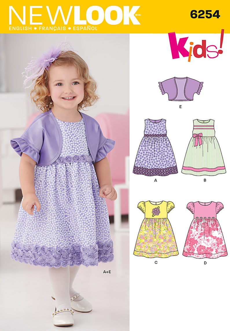 New Look Toddlers' Dress and Bolero 6254