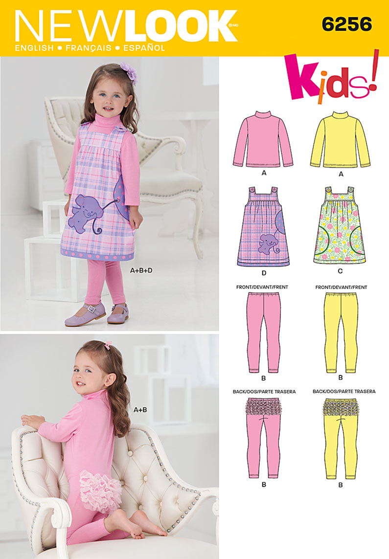New Look Toddlers' Jumper and Knit Top and Leggings 6256