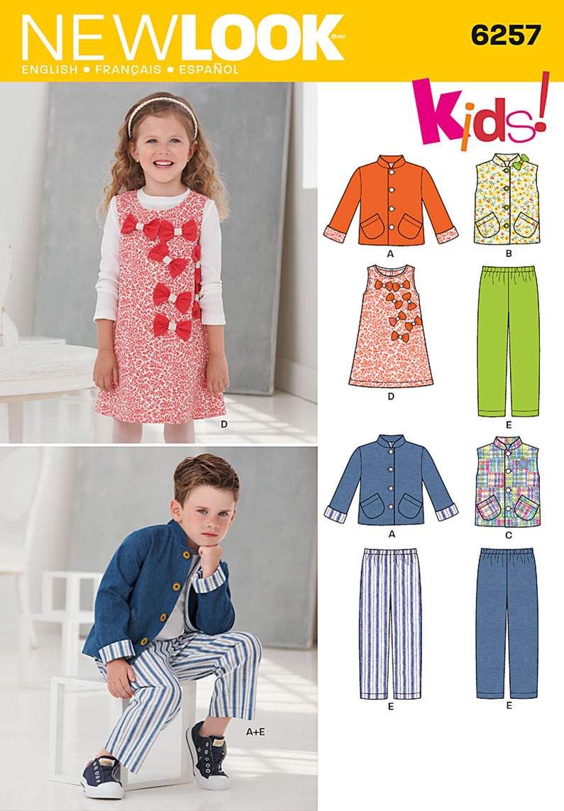 New Look Child's Jacket or Vest, Jumper and Pants 6257